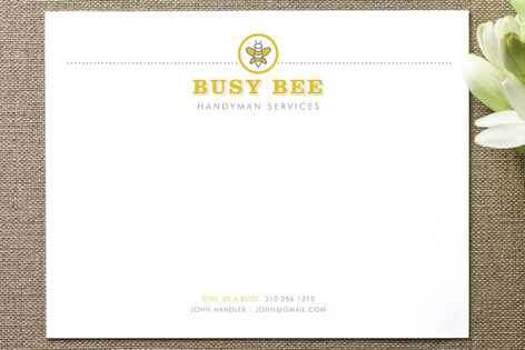 Busy Bee Business Stationery