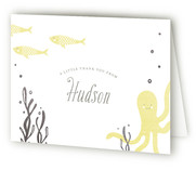 Sea Creatures Foil-Pressed Birth Announcement Thank You Cards