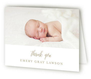 With Joy Birth Announcements Thank You Cards