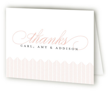 Graceful Entrance Birth Announcements Thank You Cards