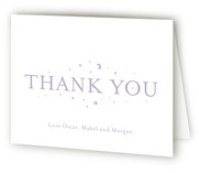 Moon Struck Birth Announcements Thank You Cards