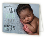 Vintage Info Birth Announcements Thank You Cards