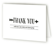 Rustic Arrow Birth Announcements Thank You Cards