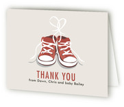 Tiny Sneakers Birth Announcements Thank You Cards