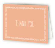 Floral Frame Birth Announcements Thank You Cards