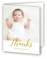 Big Script Birth Announcements Thank You Cards