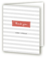 Striped Hello Birth Announcements Thank You Cards