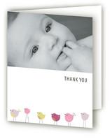Bird Parade Birth Announcements Thank You Cards