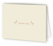 Embroidered Florals Birth Announcements Thank You Cards