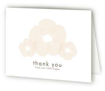 Soft Petals Birth Announcements Thank You Cards