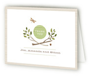 Norwegian Wood Birth Announcements Thank You Cards