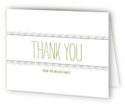 Curlicues Birth Announcements Thank You Cards