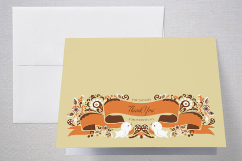 Whimsy Ribbon Birth Announcements Thank You Cards
