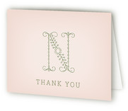 Initial Birth Announcements Thank You Cards