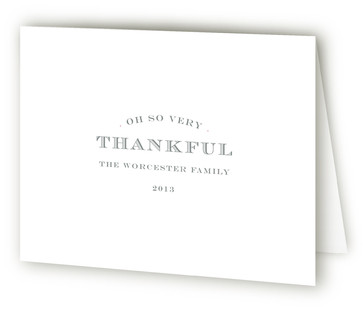 Pure Monogram Birth Announcements Thank You Cards
