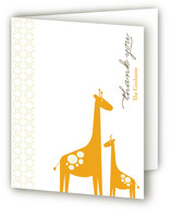 Love Giraffe Birth Announcements Thank You Cards
