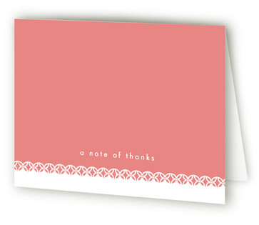 Sweet Lace Birth Announcements Thank You Cards