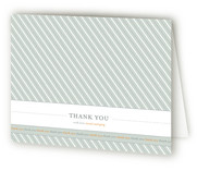 Preppy Stripe Birth Announcements Thank You Cards