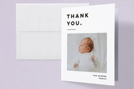 Bold Grid. Birth Announcements Thank You Cards