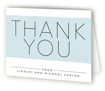 Modern Baby Birth Announcements Thank You Cards