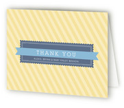 Stamp and Banner Birth Announcements Thank You Cards