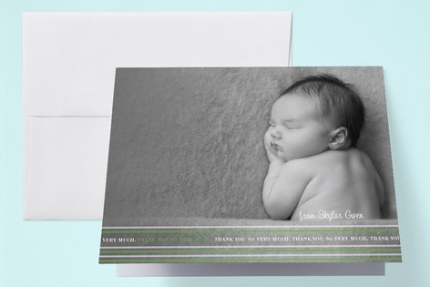 simply stripes Birth Announcements Thank You Cards