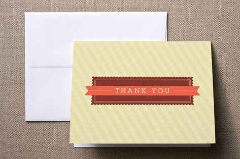 stamp & banner Birth Announcements Thank You Cards