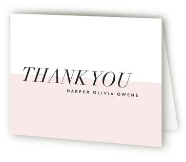 Modern Mini Birth Announcements Thank You Cards