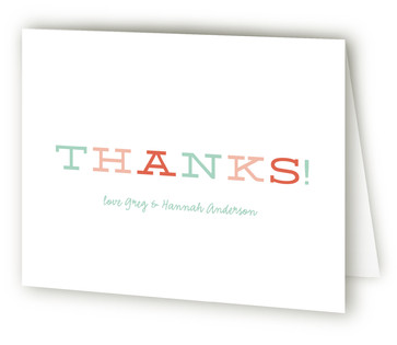 Pretty Pastels Birth Announcements Thank You Cards
