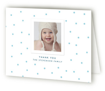 Modern Dot Birth Announcements Thank You Cards