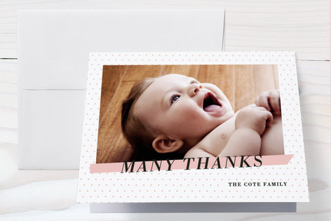 Crib Sheet Birth Announcements Thank You Cards