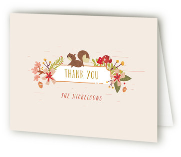 Forest Friends Birth Announcements Thank You Cards