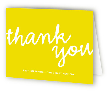 A Simple Hello Birth Announcements Thank You Cards
