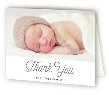 Simply Classic Birth Announcements Thank You Cards