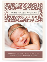 Floral Grace Birth Announcements