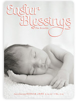 Easter Blessings Birth Announcements
