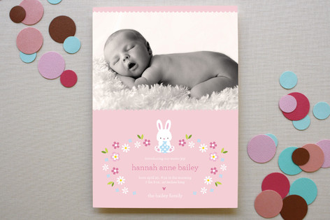 Bunny Baby Birth Announcements