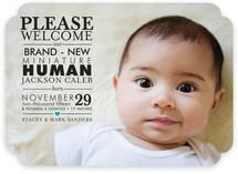 Mini Human Birth Announcements