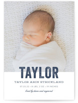 Statement Birth Announcements