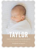 Statement Birth Announcements