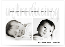 Painterly Sign Birth Announcements