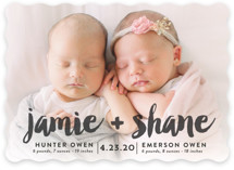 Double Painted Birth Announcements
