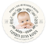 Twinkle Wreath Birth Announcements
