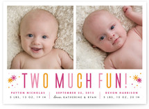 Two Much Fun Birth Announcements