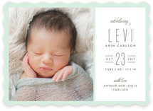 Type Type Baby Birth Announcements