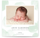 Watercolor Polka Dot Birth Announcements