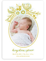 Welcome Flora Birth Announcements