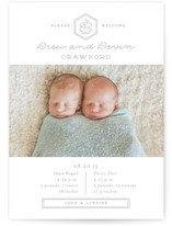 Double Love Birth Announcements