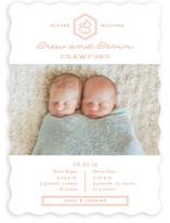 Double Love Birth Announcements