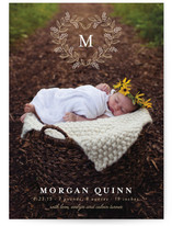 Monogram Heart Birth Announcements